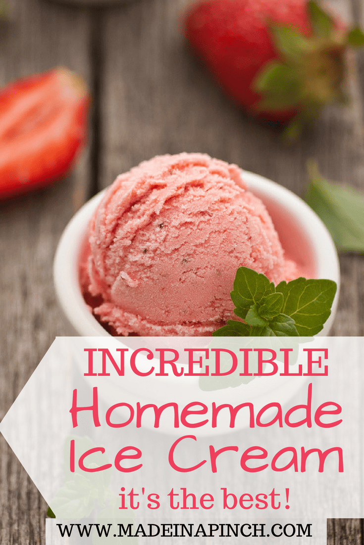 Making homemade ice cream is a fun summer tradition! Get our delicious recipe and more at Made in a Pinch and follow us on Pinterest!