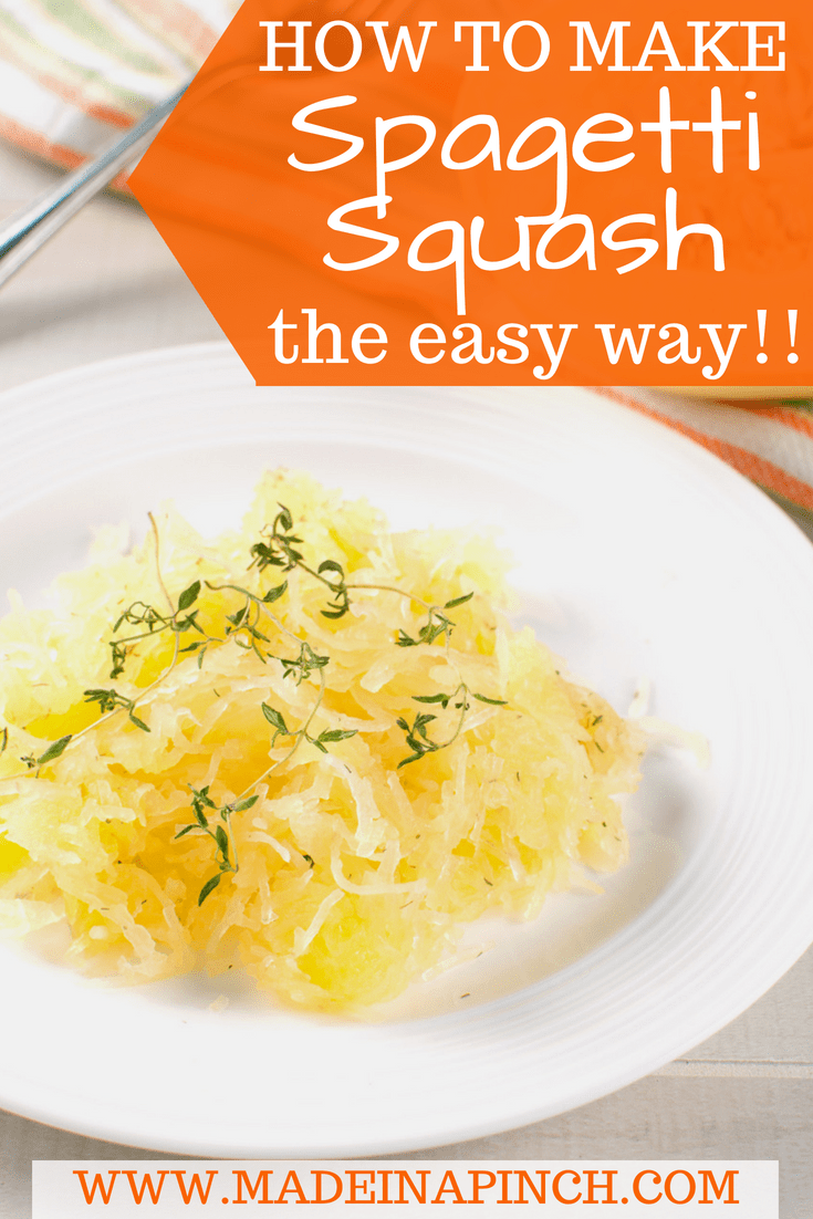 Spaghetti squash is an incredible gourd that tastes great and is very versatile.  Get our tip for easy cooking at Made in a Pinch. Follow us on Pinterest for more great tips and recipes!