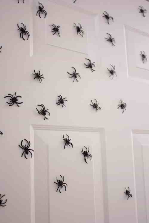 invading spiders make perfect scary Halloween decorations. For more easy scary Halloween decorations go to Made in a Pinch. Get more helpful tips and great recipes by following us on Pinterest!