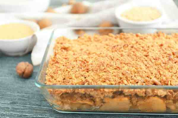 Our healthy apple crisp recipe is simple to make and disappears quickly. Get our kid-approved recipe at Made in a Pinch and follow us on Pinterest1