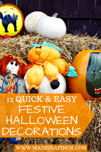 Decorate for Halloween in minutes rather than hours with our easy Halloween decorations ideas! For more tips and great recipes visit Made in a Pinch and follow us on Pinterest!