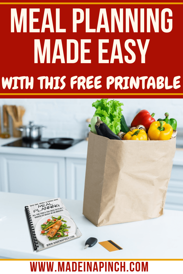 It only takes a little practice as a meal planner to save yourself time and money. Get our free system at Made in a Pinch and follow us on Pinterest for more helpful tips and delicious simple recipes!