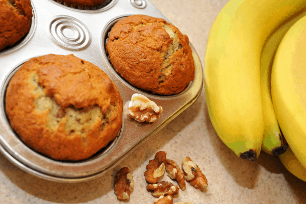 Banana Greek Yogurt Muffins are full of protein AND flavor! Grab this protein banana muffins recipe on Made in a Pinch and follow us on Pinterest for more helpful tips and delicious recipes!