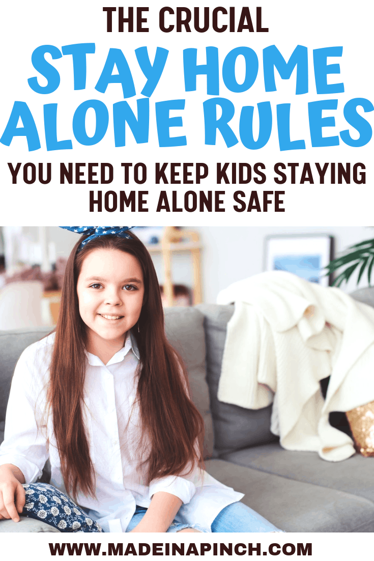 Home Alone Safety Rules with free printable