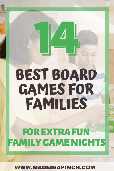 Pinterest image for our list of the best board games for families
