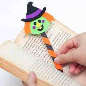 Halloween Witch bookmarks craft for kids