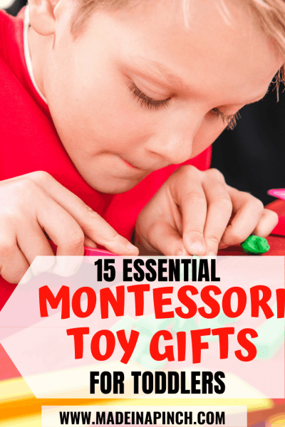 Must-have Montessori toys for 2 year olds Pinterest Pin Image