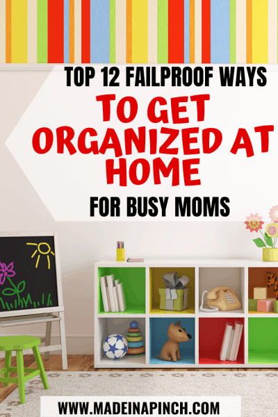 Pinterest Pin for getting organized for the new year and how to eliminate clutter