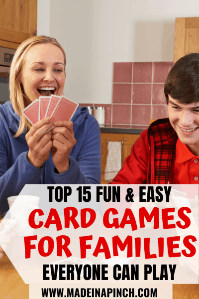 Pinterest pin for fun and easy card games for families