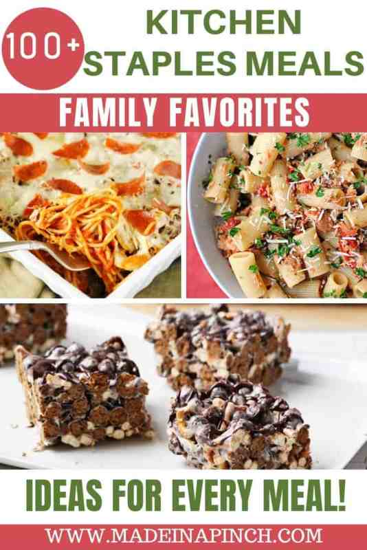 Pantry meals recipes Pinterest pin image