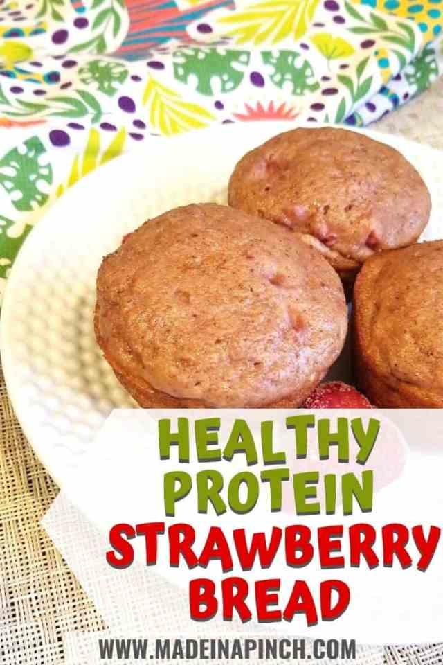strawberry bread recipe pin image