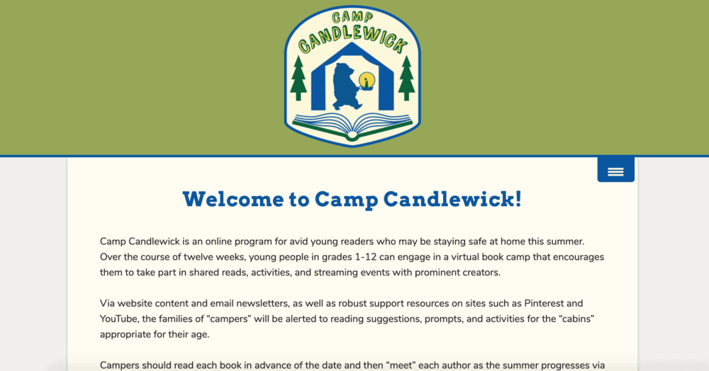 Camp Candlewick summer program homepage