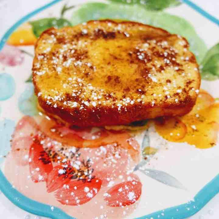 pumpkin french toast closeup