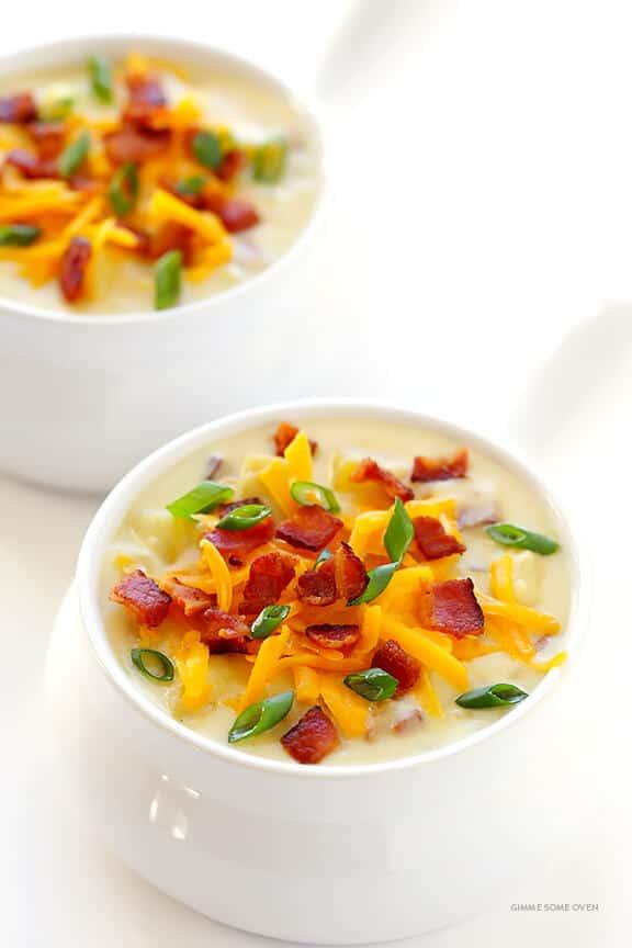 crock pot potato cheddar soup