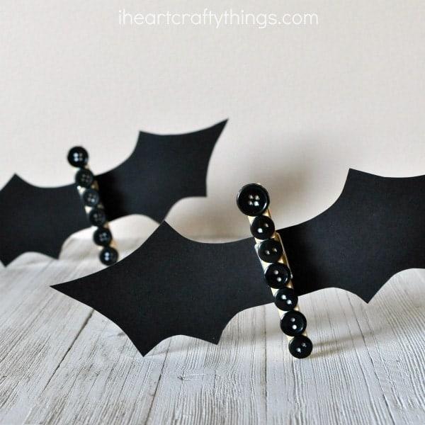 clothespin button bats