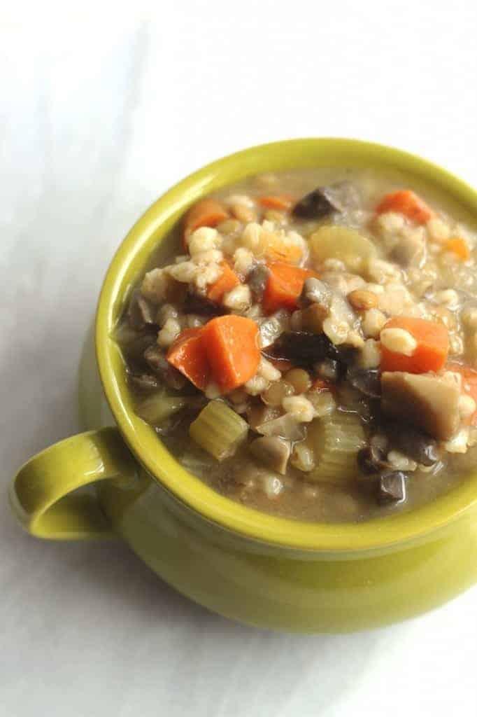 crock pot mushroom barley soup