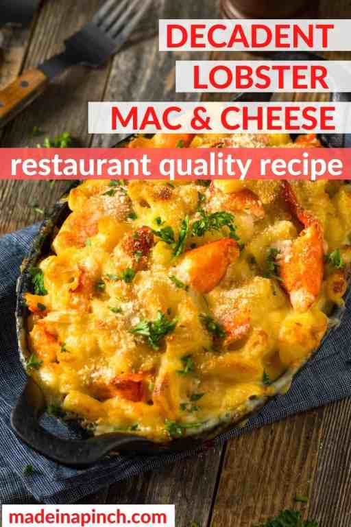 lobster macaroni and cheese pin image