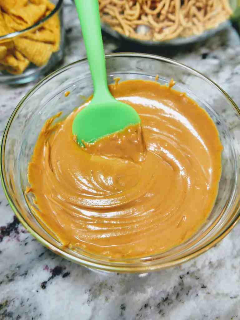 blending butterscotch and creamy peanut butter