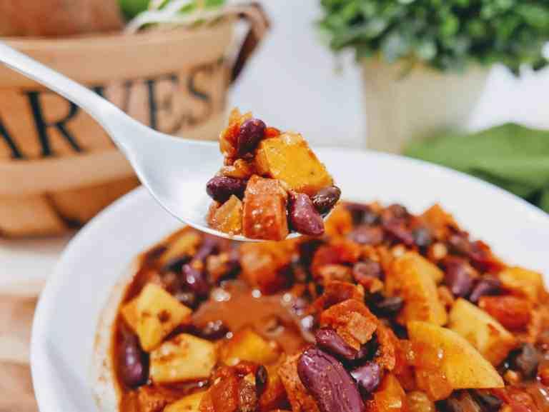 turkey, sweet potato chili