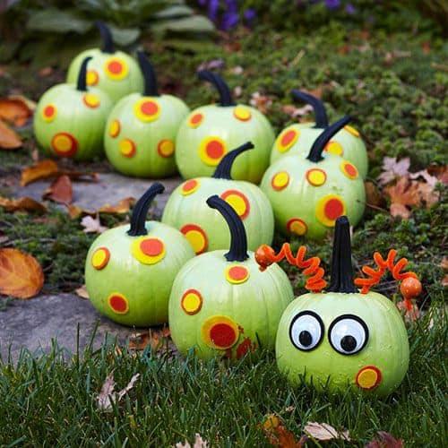 caterpillar pumpkin painting ideas for kids