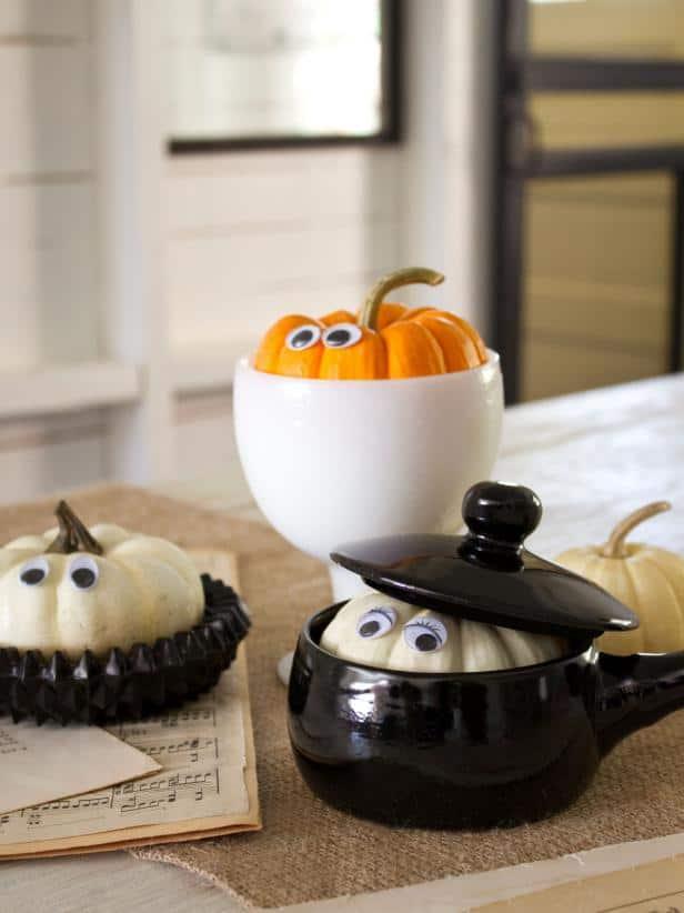 peek-a-boo pumpkin in a bowl