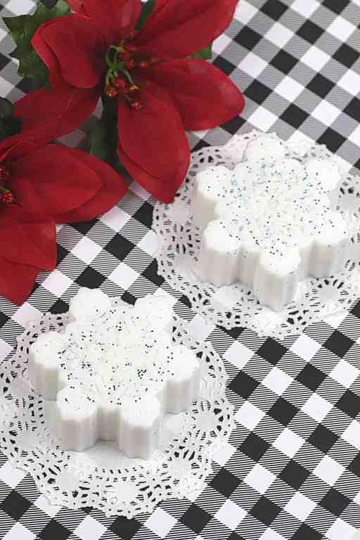 sparkly snowflake soap bars gift idea