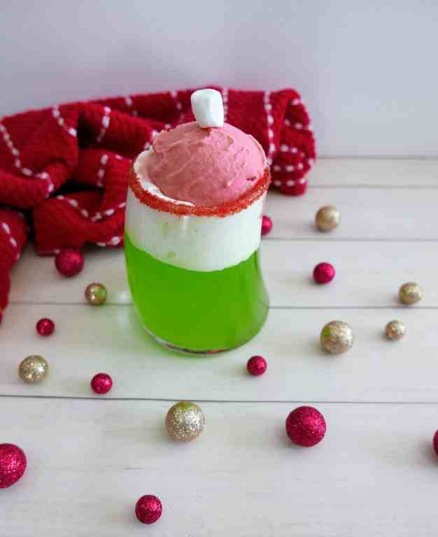 Grinch punch in a glass