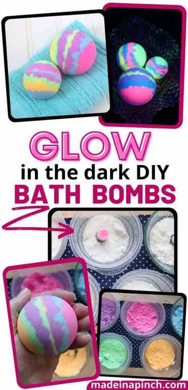 DIY bath bombs pin image