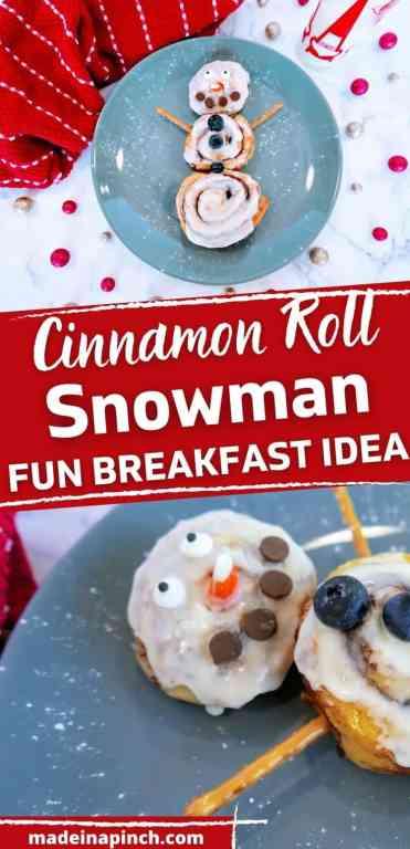 cinnamon roll snowman long pin image