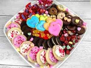 Valentine's day charcuterie board