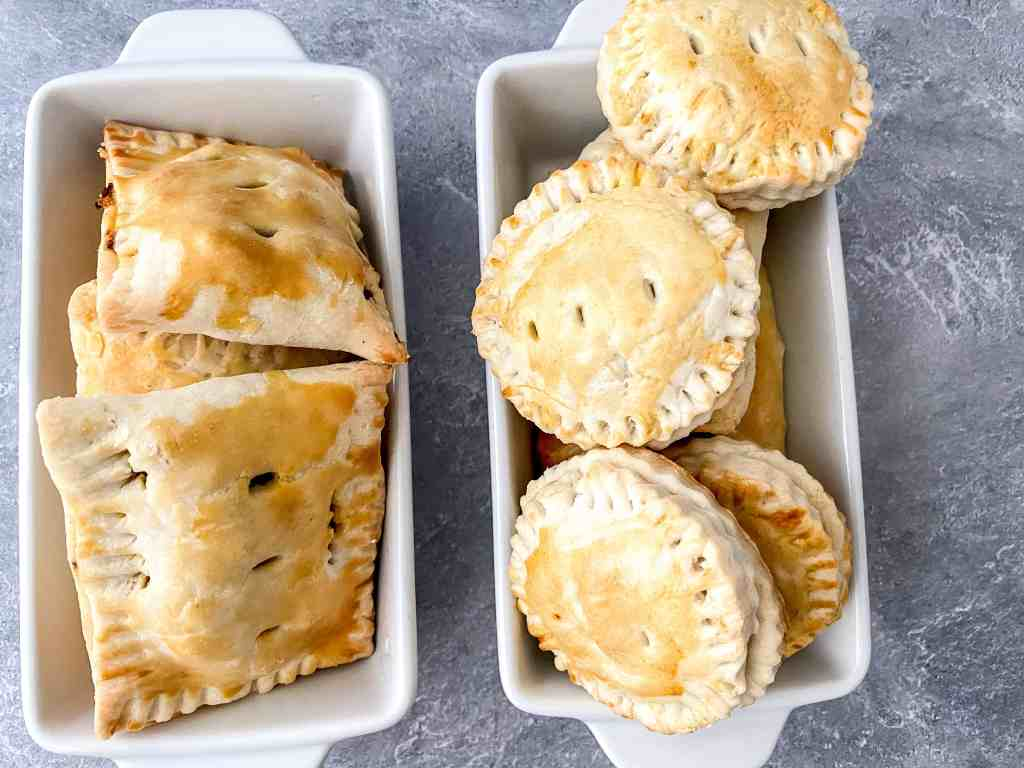 Irish meat pie recipe finished on a plate
