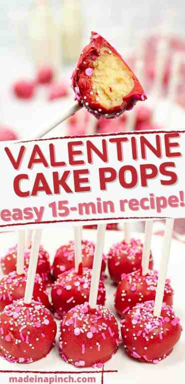 easy cake pop recipe long pin image