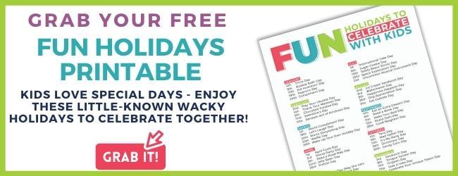 fun holidays printable