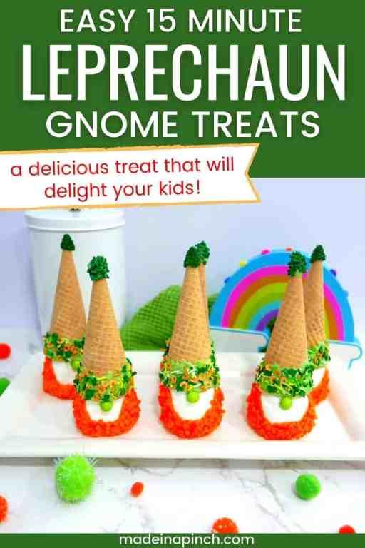 St. Patrick's Day leprechaun gnome treats pin image