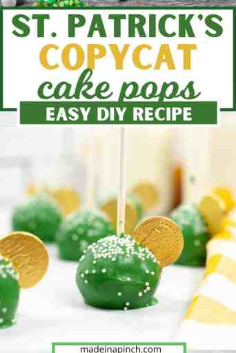 These beautiful green copycat Starbucks cake pops are the perfect St. Patrick's Day treat. St. Patrick's Day cake pops are easy to make and will definitely bring the luck of the Irish to you!