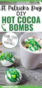 No matter how you celebrate, these St. Patrick's Day Hot Cocoa Bombs add a fun twist to your St. Patrick's Day celebrations! Why not make these adorable St. Patrick Hot Chocolate Bombs for the kids or to share? Drop one of these St. Patrick's Day hot chocolate bombs into a mug and pour hot milk over it. You'll get a fun surprise when the bomb explodes in your cup! #hotcocoabomb #hotchocolatebomb #stpatricksday   Made in A Pinch @madeinapinch