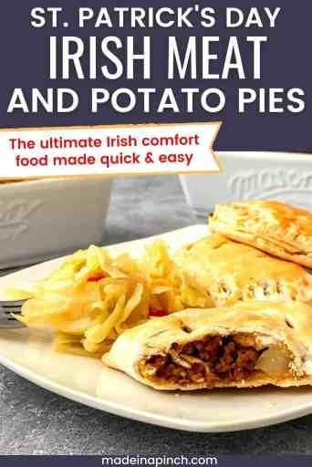 Irish Meat and potato pie pin image