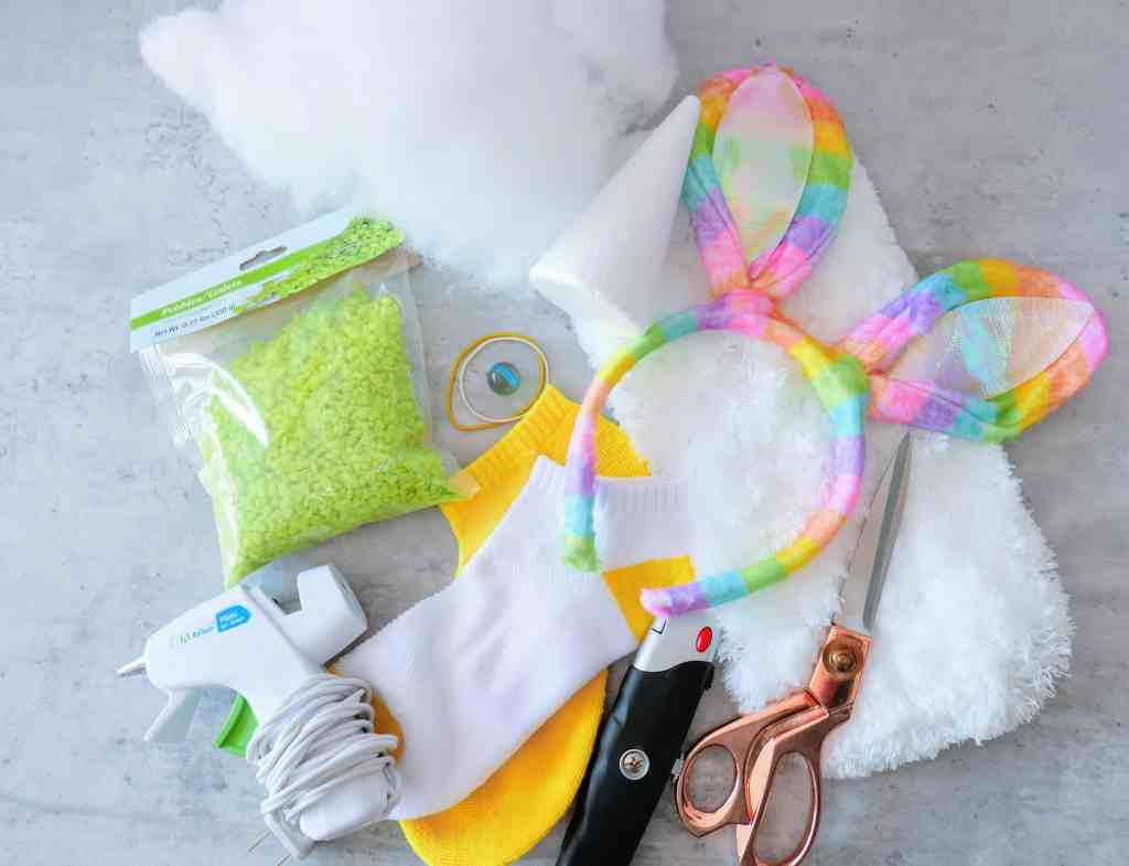 supplies needed for bunny Easter craft