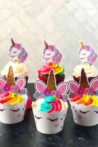 decorated easy unicorn cupcakes