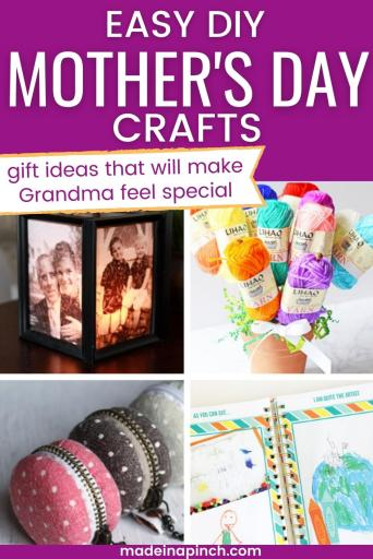 Easy Mother's Day crafts for Grandma pin image