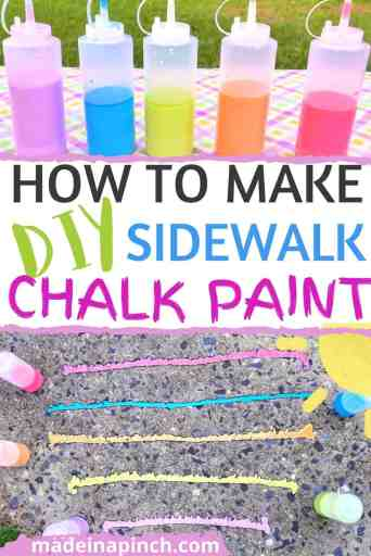 how to make sidewalk chalk paint pin image