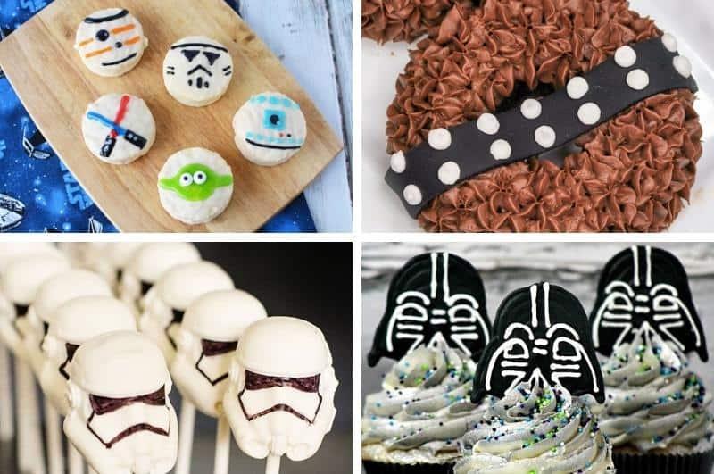 Star Wars snacks collage image