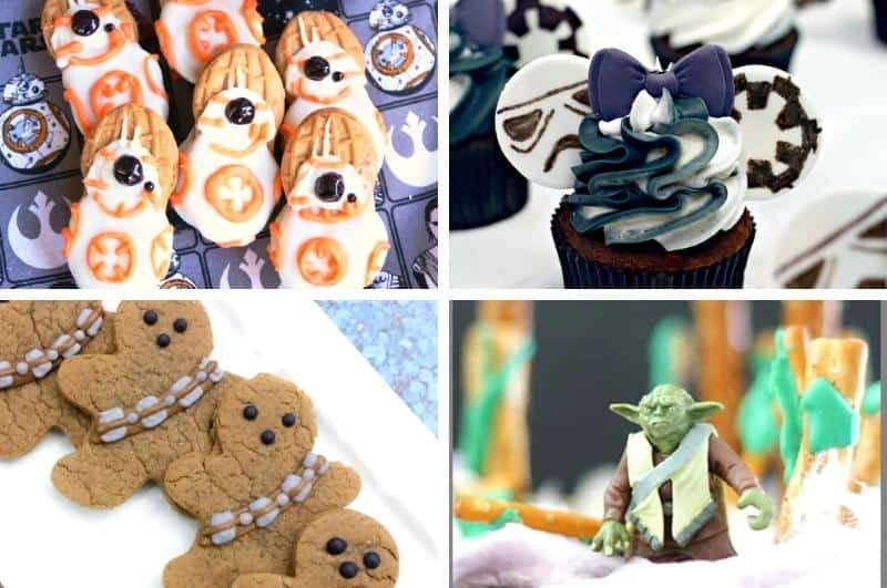 image collage of Star Wars snacks