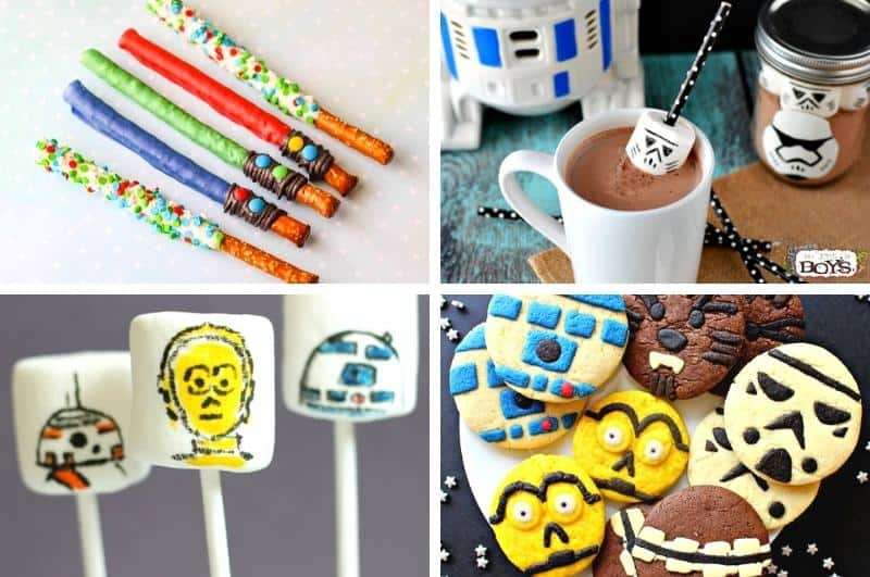 image collage of Star Wars treats