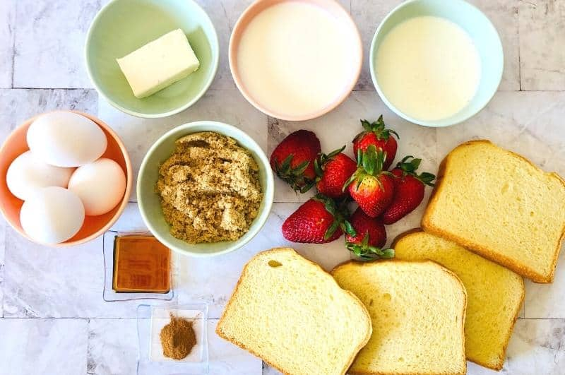 Strawberry french toast casserole ingredients