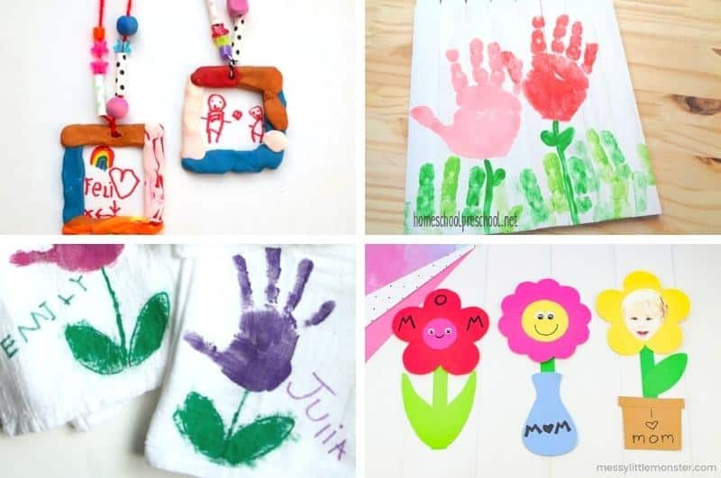 mother's day craft ideas collage2