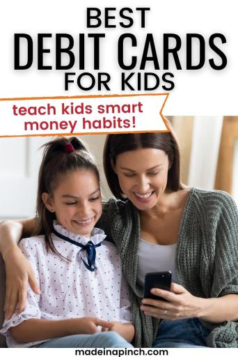 Top debit cards for kids pin image