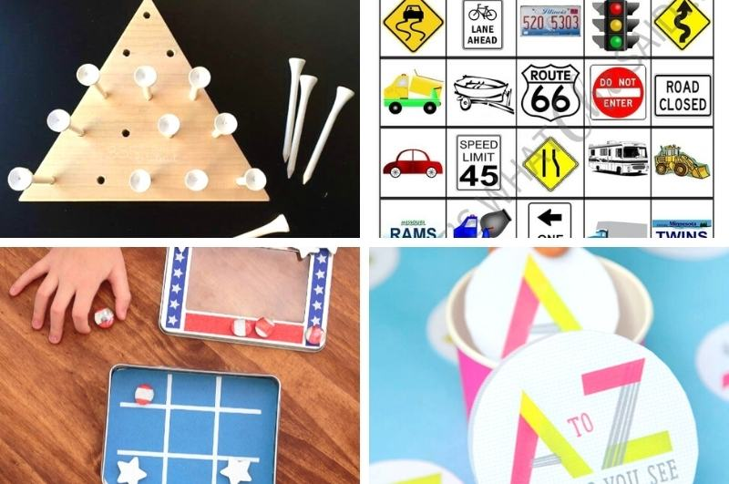 games to play on a road trip image collage