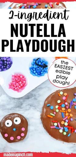 2-ingredient Nutella playdough pin image