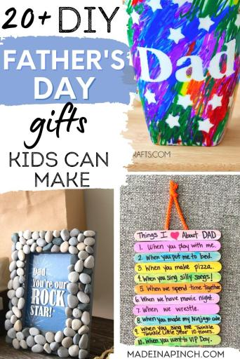 Father's Day gifts kids can make pin image